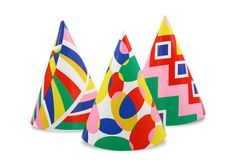 Party hats. Isolated on white background Stock Photos