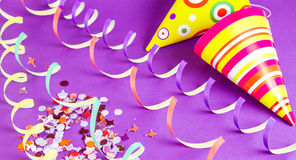 Party hats. Festive  background with party hats Royalty Free Stock Photos