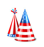 Party Hats with Flag of the United States of America Stock Images