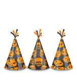 Party hats for Halloween, isolated on white backgr Stock Image