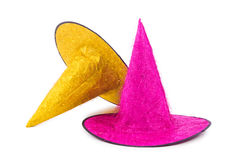 The party hats isolated on the white background Royalty Free Stock Images