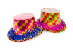 The party hats isolated on the white background Royalty Free Stock Photos