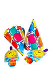 Party Hats and Noise Makers. Time for a Birthday Party Royalty Free Stock Image