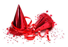 Party hats, paper streamer Royalty Free Stock Photo