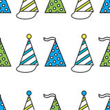 Party hats. Seamless festive pattern. Vector Royalty Free Stock Image
