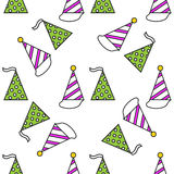 Party hats. Seamless festive pattern. Vector. Illustration Stock Images