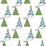 Party hats. Seamless festive pattern. Vector. Illustration Royalty Free Stock Image