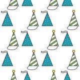 Party hats. Seamless festive pattern. Vector. Illustration Stock Photo