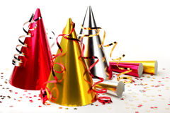Party hats with streamers Royalty Free Stock Photo