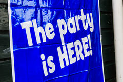 The party is HERE! Royalty Free Stock Photography