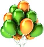 Party Hinauftreiben von Aktienkursen grüne Orange Lizenzfreies Stockbild