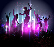 Party-Hintergrund-Abbildung Stockfoto