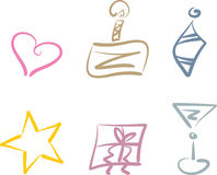 Party and holiday clipart set Royalty Free Stock Photography