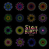 Party holiday event firework icon flat set  vector illustration Stock Photos