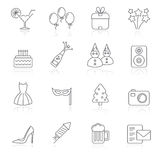 Party and Holidays icons Royalty Free Stock Images