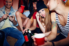 Party at home Royalty Free Stock Photography