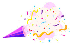 Party horn with sprinkles Royalty Free Stock Photos