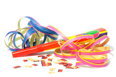 Party horn with streamers Royalty Free Stock Photo