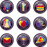 Party Icon Buttons royalty free illustration