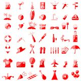 Party Icon Set Stock Photos