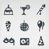 Party icon set. Vector illustration of party on light background Stock Photography