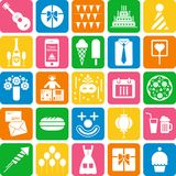 Party icons royalty free illustration