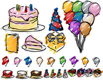 Party icons Royalty Free Stock Photo