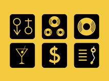 Party Icons. Background with illustration of party Icons Royalty Free Stock Photography