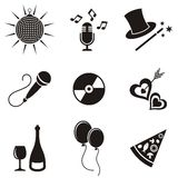 Party icons Stock Image