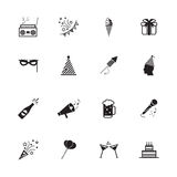 Party icons and Celebration icons Stock Images