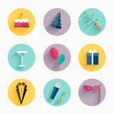 Party Icons and Celebration Icons. With White Background vector illustration