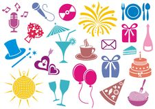 Party icons Royalty Free Stock Photos