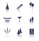 Party Icons of Holiday and Birthday Objects Stock Image