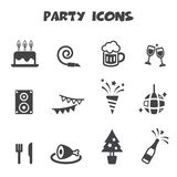 Party icons Royalty Free Stock Images