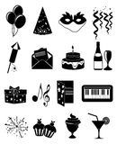 Party icons set Stock Photography