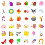 Party icons set, cartoon style. Party icons set. Cartoon style of 36 party vector icons for web isolated on white background Royalty Free Stock Photography