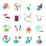 Party Icons Set Stock Image