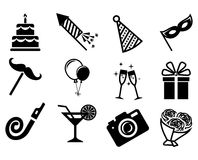 Party icons set. Royalty Free Stock Photo