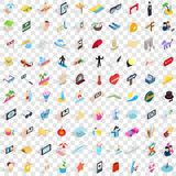 100 party icons set, isometric 3d style. 100 party icons set in isometric 3d style for any design vector illustration Stock Photos
