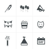 Party Icons Set Royalty Free Stock Image