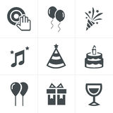 Party Icons Set, Vector Design. Party  icons set  design template Royalty Free Stock Image