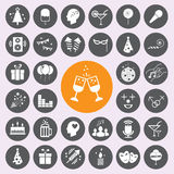 Party Icons set.vector/eps10. Royalty Free Stock Image
