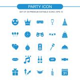 Party icons set vector. For web design and application interface, also useful for infographics. Vector illustration Royalty Free Stock Images
