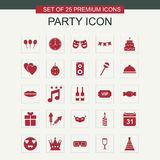 Party icons set vector. For web design and application interface, also useful for infographics. Vector illustration Royalty Free Stock Photos