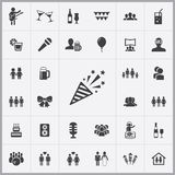 Party icons universal set. For web and mobile Stock Photos
