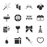 Party 16 icons universal set for web and mobile. Flat Royalty Free Stock Images