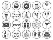 Party Icons Vector Collection Royalty Free Stock Photography