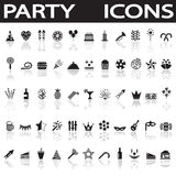Party icons Royalty Free Stock Image