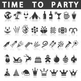 Party Icons Stock Photo