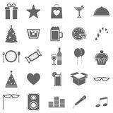Party icons on white background Royalty Free Stock Image